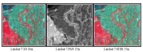 SFIM Pan Sharpening pada Citra Landsat 7 ETN+